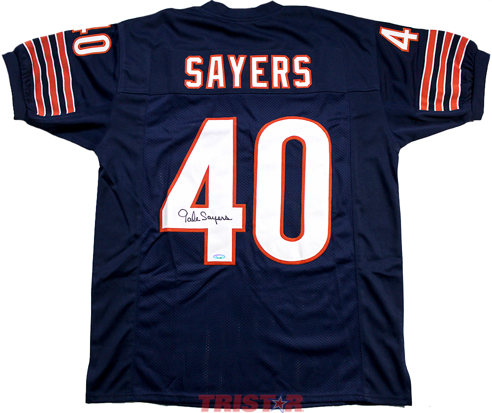 best sneakers 8da9c e3489 Gale Sayers Autographed Chicago Bears Custom Jersey