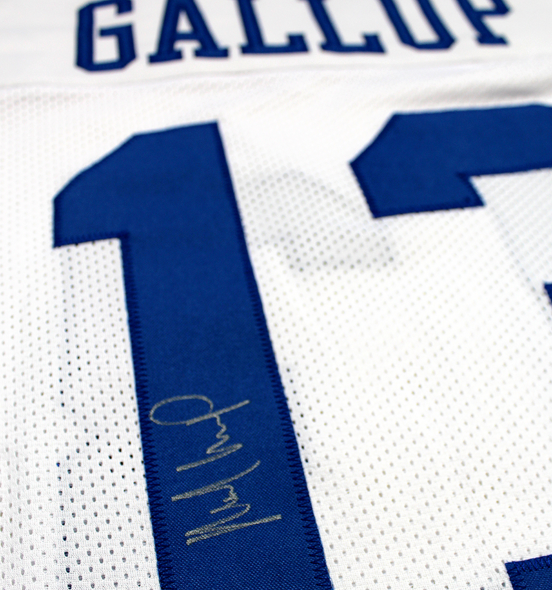 outlet store 56a00 592bd Michael Gallup Autographed Dallas Cowboys Custom Jersey