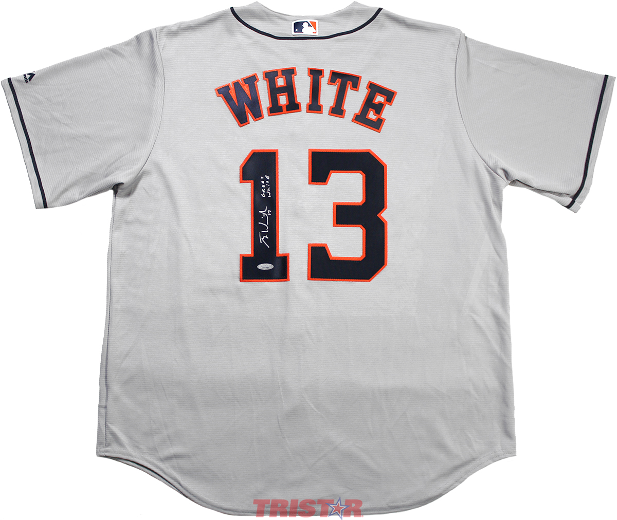 info for fe9cd d89e8 Tyler White Autographed Houston Astros Jersey Inscribed Great White