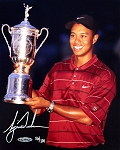 Tiger Woods Autographed 2002 US Open 8x10 Photo Limited Edition of 100