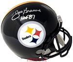 Joe Greene Autographed Pittsburgh Steelers Full Size Helmet Inscribed HOF 87
