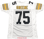 Joe Greene Autographed Pittsburgh Steelers Custom Jersey Inscribed HOF 87