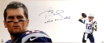 Tom Brady Autographed New England Patriots 46x20 Photo Inscribed We're Still Here