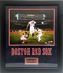 Mookie Betts, Jackie Bradley Jr, Andrew Benintendi Autographed Boston Red Sox 16x20 Photo Framed