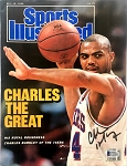 Charles Barkley Autographed 1988 Sports Illustrated Magazine Cover