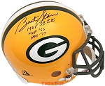 Bart Starr Autographed Green Bay Packers Full Size Helmet Inscribed MVP SB I,II; MVP 66; HOF 77