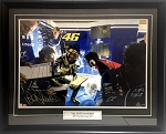 Valentino Rossi Autographed MotoGP 2013 Sachsenring 20x30 Photo Framed