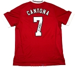 Eric Cantona Autographed Manchester United Adidas Jersey