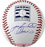 Jeff Bagwell Autographed Hall of Fame Logo Baseball Inscribed HOF 17