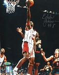 Eddie Johnson Autographed Houston Rockets vs. Sonics 8x10 Photo