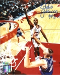Eddie Johnson Autographed Houston Rockets Layup 8x10 Photo