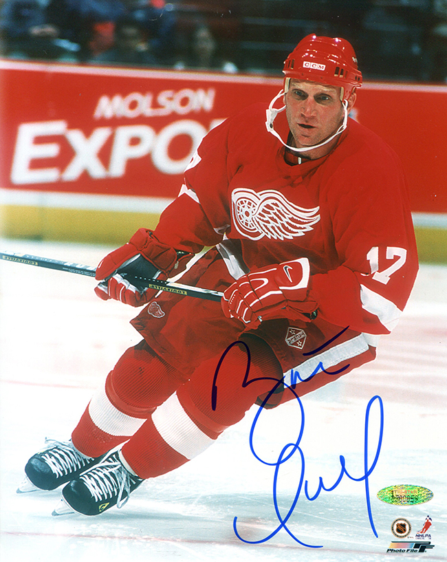 new concept bbeff df2e8 Brett Hull Autographed Detroit Red Wings 8x10 Photo