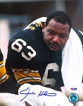 Ernie Holmes Autographed Pittsburgh Steelers Close-Up 8x10 Photo