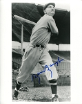Sammy Baugh Autographed Baseball 8x10 Photo