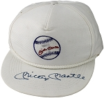 Mickey Mantle Autographed Logo Baseball Cap