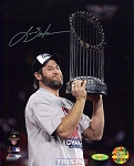 Lance Berkman Autographed 2011 World Series Champs 8x10 Photo