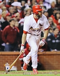 Lance Berkman Autographed St. Louis Cardinals 2011 WS Game 6 16x20 Photo