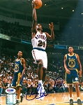 Charlie Ward Autographed New York Knicks Layup 8x10 Photo