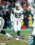 Dedric Ward Autographed New York Jets Running Line 8x10 Photo