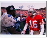 Joe Montana & Emmitt Smith Autographed 16x20 Photo