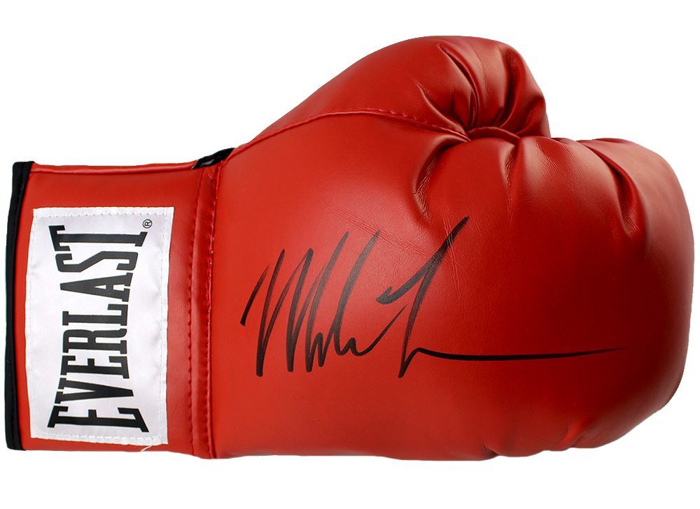 Shiv Naresh Teens Boxing Gloves 12oz: Mike Tyson Autographed Everlast Red Boxing Glove