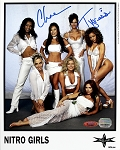 Chae & Tygress Autographed WCW Nitro Girls 8x10 Photo