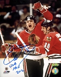 Eddie Olczyk Autographed Chicago Blackhawks 8x10 Inscribed