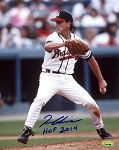 Tom Glavine Autographed Atlanta Braves Pitching 8x10 Photo HOF 2014