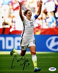Carli Lloyd Autographed USA 2015 World Cup 8x10 Photo