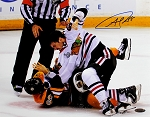 Andrew Shaw Autographed Blackhawks 2013 Stanley Cup Fight 11x14 Photo