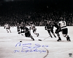 Bobby Hull Autographed Blackhawks 16x20 Photo Inscribed 1961 Cup Champs