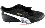 Pele Autographed Black & White Puma Soccer Cleat
