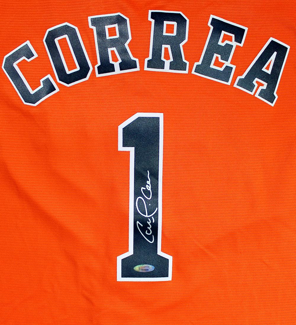 quite nice 687d1 c2c0b Carlos Correa Autographed Houston Astros Orange Jersey