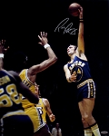 Rick Barry Autographed Golden State Warriors Hook Shot 16x20 Photo