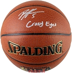 Bobby Portis Autographed Spalding NBA Indoor/Outdoor Basketball Inscribed Crazy Eyes