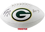 Eddie Lacy Autographed Green Bay Packers Logo Football Inscribed ROY 13