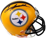 Terry Bradshaw Autographed Pittsburgh Steelers Yellow Mini Helmet
