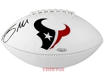Braxton Miller Autographed Houston Texans Logo Football