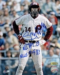 Gary Matthews Sr Autographed Philadelphia Phillies 8x10 Photo
