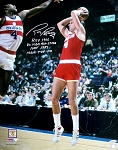Rick Barry Autographed Houston Rockets 16x20 Photo with Multiple Inscriptions