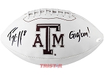 Trevor Knight Autographed Texas A&M Signature Series White Logo Football