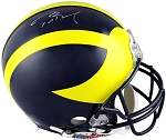 Tom Brady Autographed Michigan Wolverines Authentic Full Size Helmet