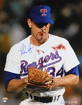 Nolan Ryan Autographed Texas Rangers Bloody Lip 16x20 Photo