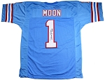 Warren Moon Autographed Houston Oilers Jersey Inscribed HOF 06