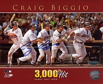 Craig Biggio Autographed Houston Astros 3000 Hit 8x10 Photo
