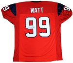 JJ Watt Autographed Houston Texans Red Custom Jersey
