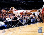 Dennis Rodman Autographed Chicago Bulls Diving 8x10 Photo