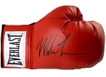 Mike Tyson Autographed Everlast Red Boxing Glove