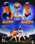 Nolan Ryan & Craig Biggio Autographed Houston Astros Commemorative 16x20 Photo