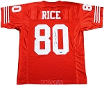 Jerry Rice Autographed San Francisco 49ers Custom Jersey